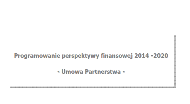 Programowanie perspektywy finansowej 2014-2020 - okładka