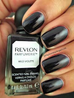 revlon parfumerie, wild violets, scented, nail polish, swatch