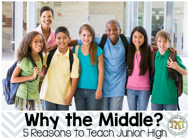 Why should you consider teaching the middle grades? We've got FIVE reasons to jump in feet first and enjoy this amazing age group!