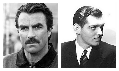 tom selleck and clark gable collage