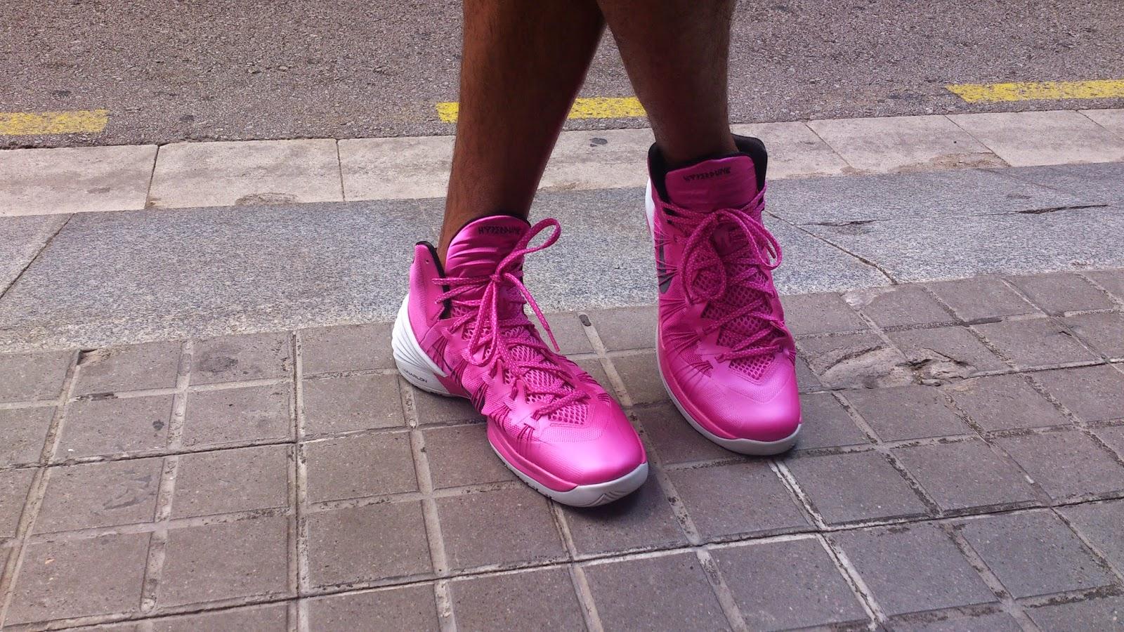 bambas rosas nike chico hombre