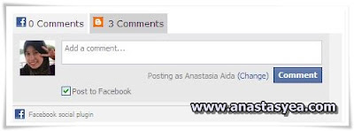 Kotak Komen Facebook dan Blogger