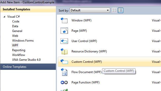 Dot Net Tricks Writing A Reusable Custom Control In Wpf