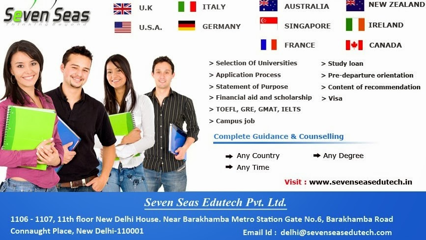 Study Abroad consultants in Delhi, Best study abroad consultants in Delhi, Overseas education consultant in Delhi, study abroad consultant, overseas education, Seven Seas, top study abroad consultants in delhi,