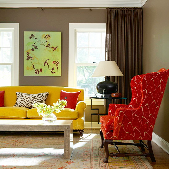 2013 contemporary living room decorating ideas from bhg for Modern living room design ideas 2013