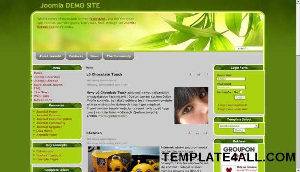 Ecology Nature Green Joomla Template