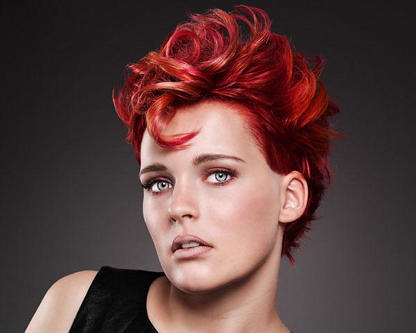 crazy hair styles red women