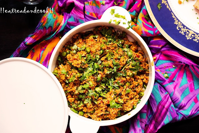 soya keema matar recipe soya granules curry recipe