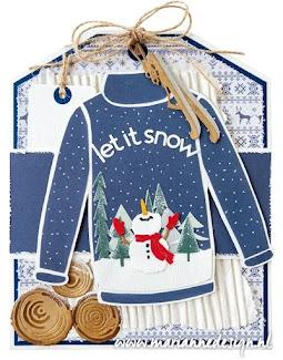 Maak een leuke winterkaart, op Creaties Suzan FB