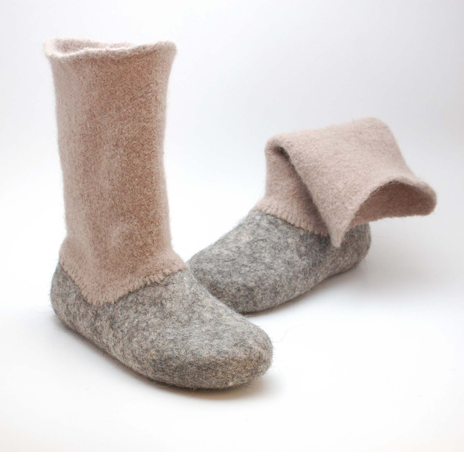 how to make felted wool boots