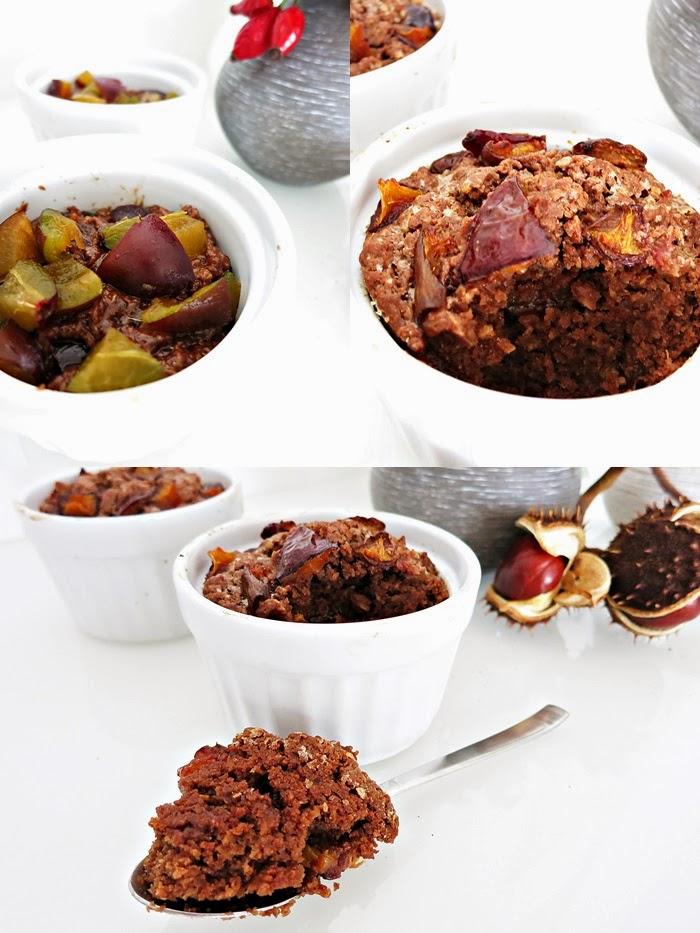 Zwetschken-Schokoladen Tassenkuchen