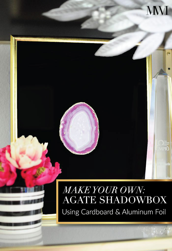 agate artwork shadowbox pink