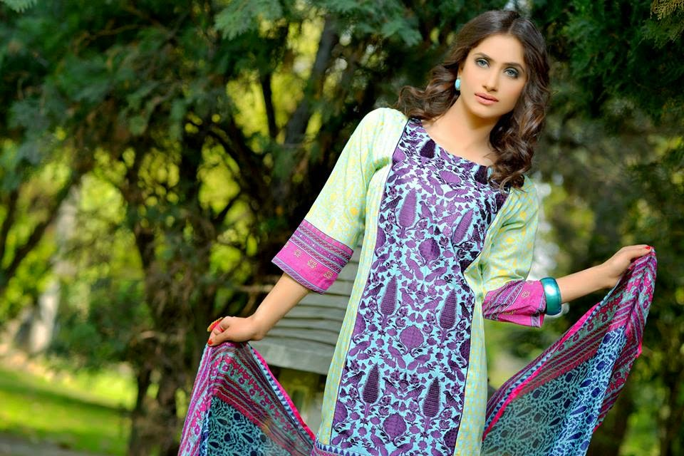 Latest Spring Parsa Lawn Prints 2015 by Nimra Textile