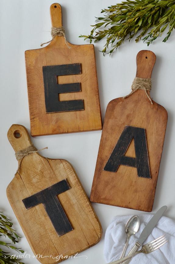 Eat Wall Art anderson + grant: diy cutting board wall art