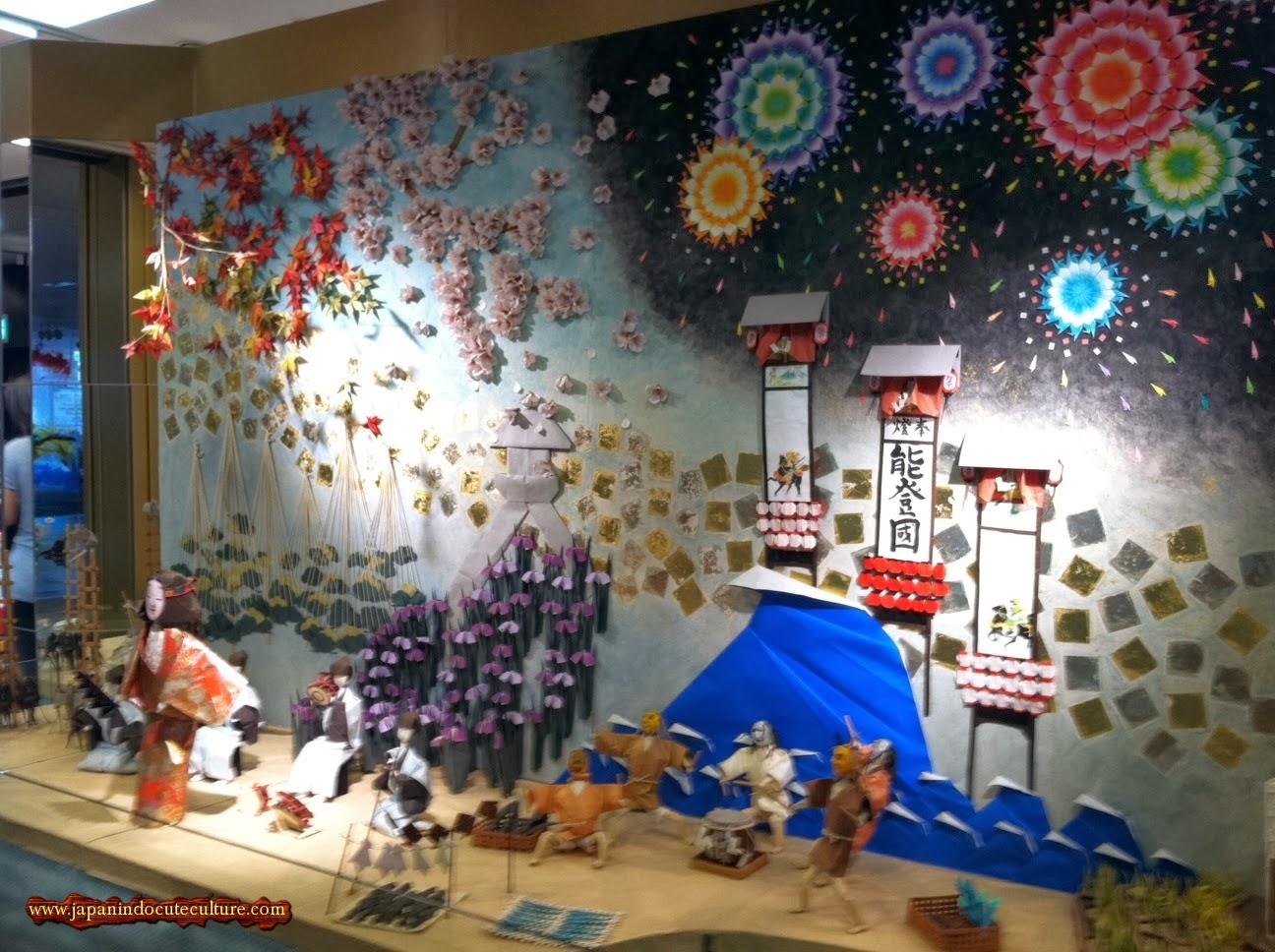 Origami kaisar, prajurit dan hanabi I Museum Origami Cantik di Narita Airport Jepang
