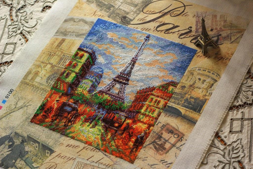 Схема вышивки париж риолис