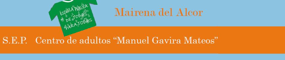 """CENTRO DE ADULTOS """"MANUEL GAVIRA MATEOS"""""""