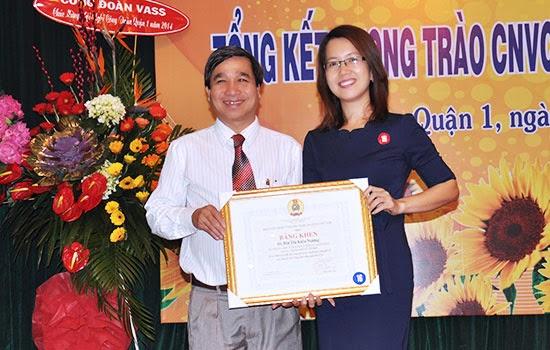SCTV nhận bằng khen của TLĐLĐ Việt Nam