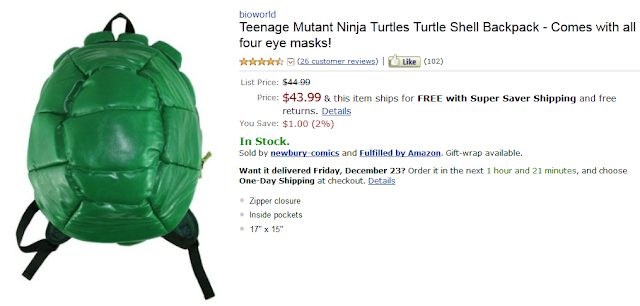 Funny Amazon Reviews, Product: Turtle Shell Backpack
