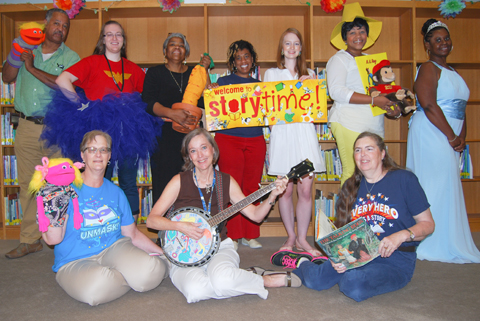 photo of storytellers at BPL
