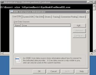 ODBC 64 bits Windows 7