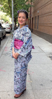 Elegant woman in Yukata