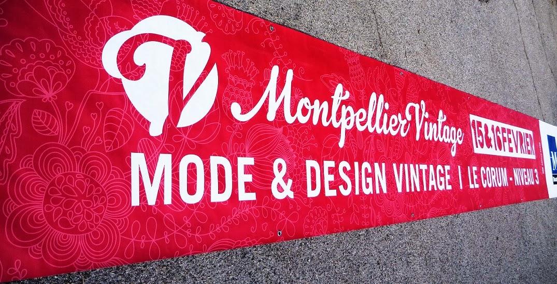 Création bâche publicitaire Montpellier Vintage