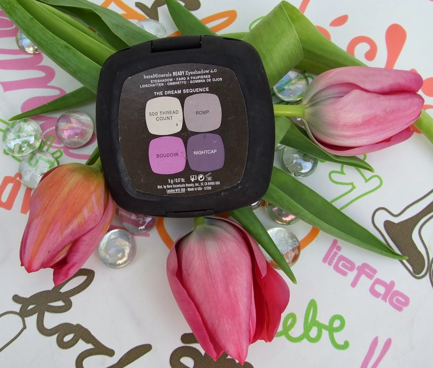 bare minerals Dream sequence eye-shadow quad review purple eye looks