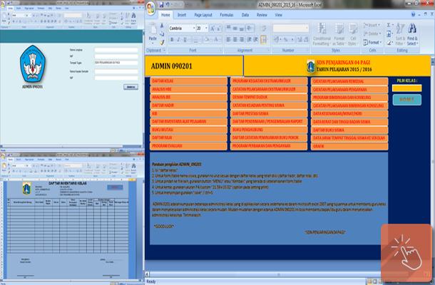 Perangkat Administrasi Guru Kelas SD Format Microsoft Excel