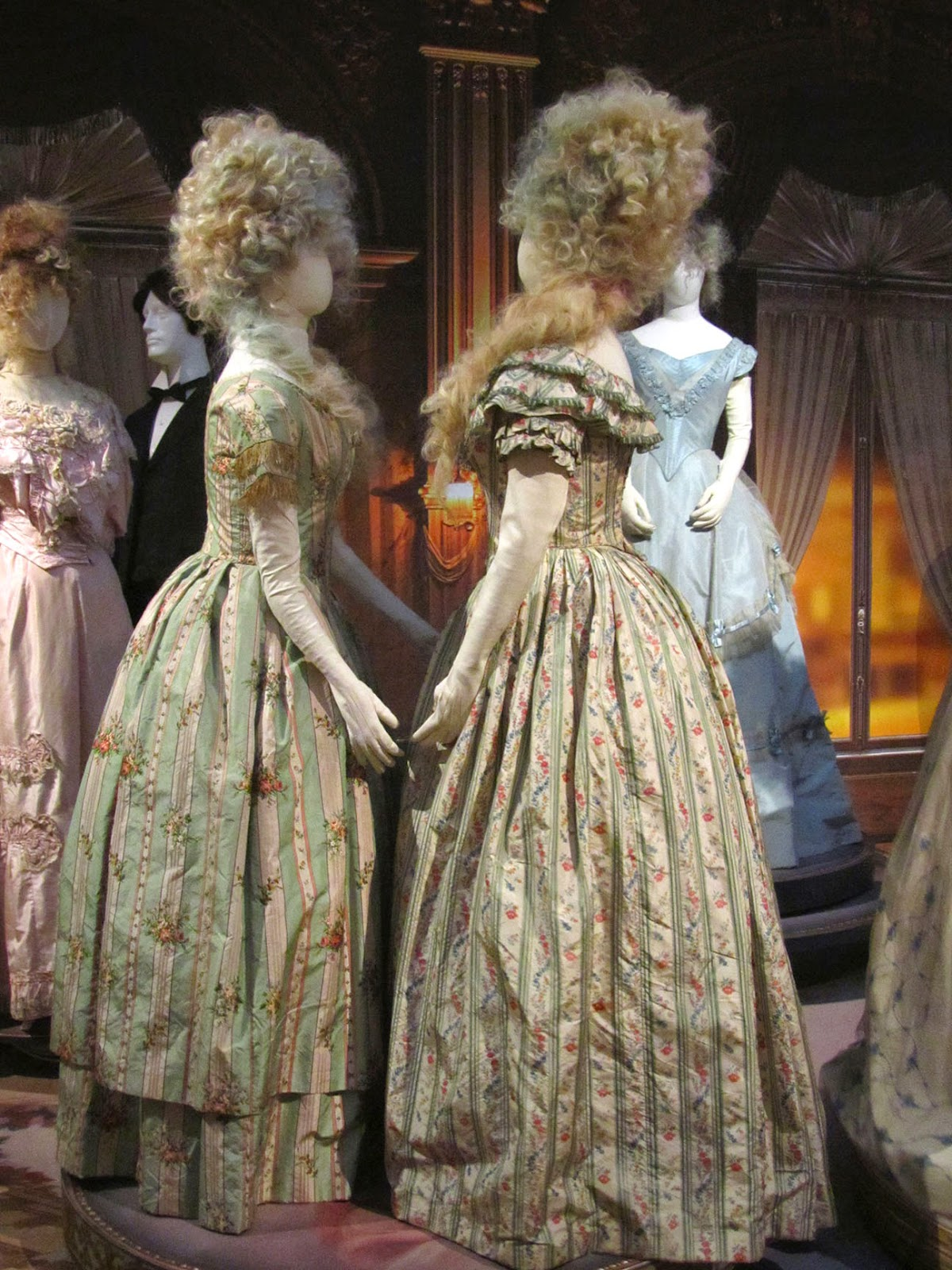 two silk ball gowns, ca. 1845-1860