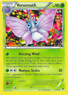 Venomoth Phantom Forces Pokemon Card
