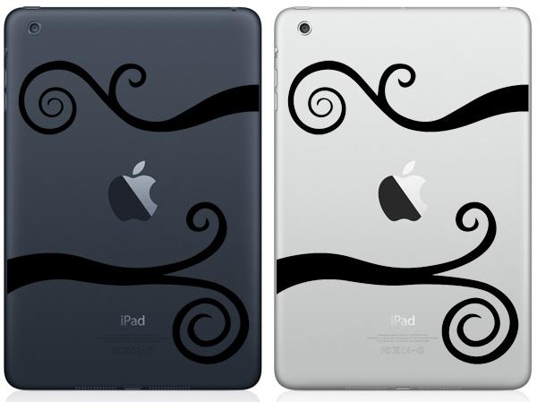 Wavy Srolls iPad Mini Decals