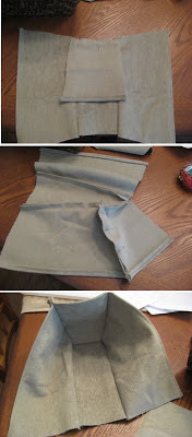Sew small sides to liner