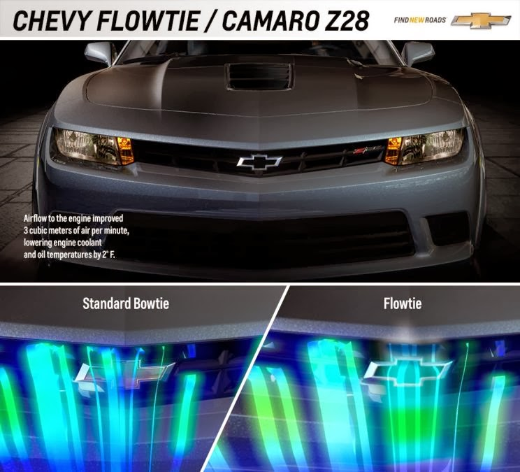 Modified Chevrolet Bowtie Improves Engine Cooling