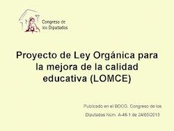 PROYECTO DE LOMCE