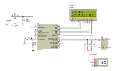Digital clock using DS-1307