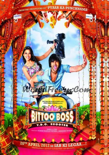Poster Of Bollywood Movie Bittoo Boss (2012) 300MB Compressed Small Size Pc Movie Free Download World4ufree.Org