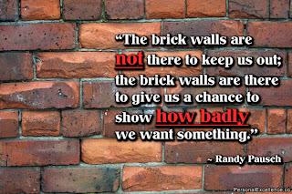Randy Pausch Inspirational quote