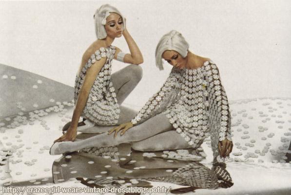 Paco Rabanne dress - 1968 60s 1960 mod
