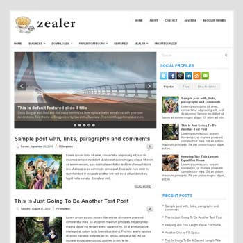 Zealer blog template. magazine blogger template style. magazine style template blogspot