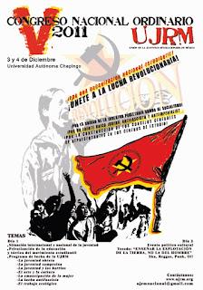 V Congreso Nacional Ordinario Unión de la Juventud Revolucionaria de México (UJRM)