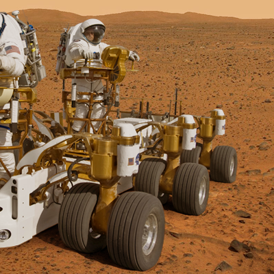 Humans will eventually arrive in Mars. The next step of exploration of our universe. NASA + JPL + Ren@rt, 2011.