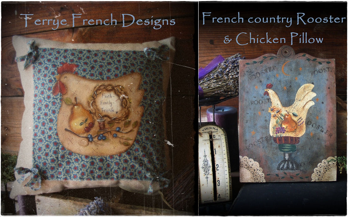 French Country Chicken Paintings