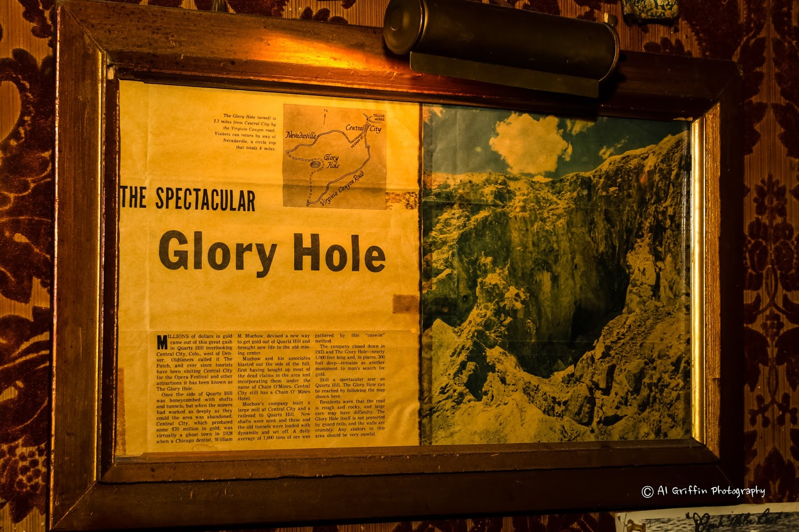 Infinite gloryholes story