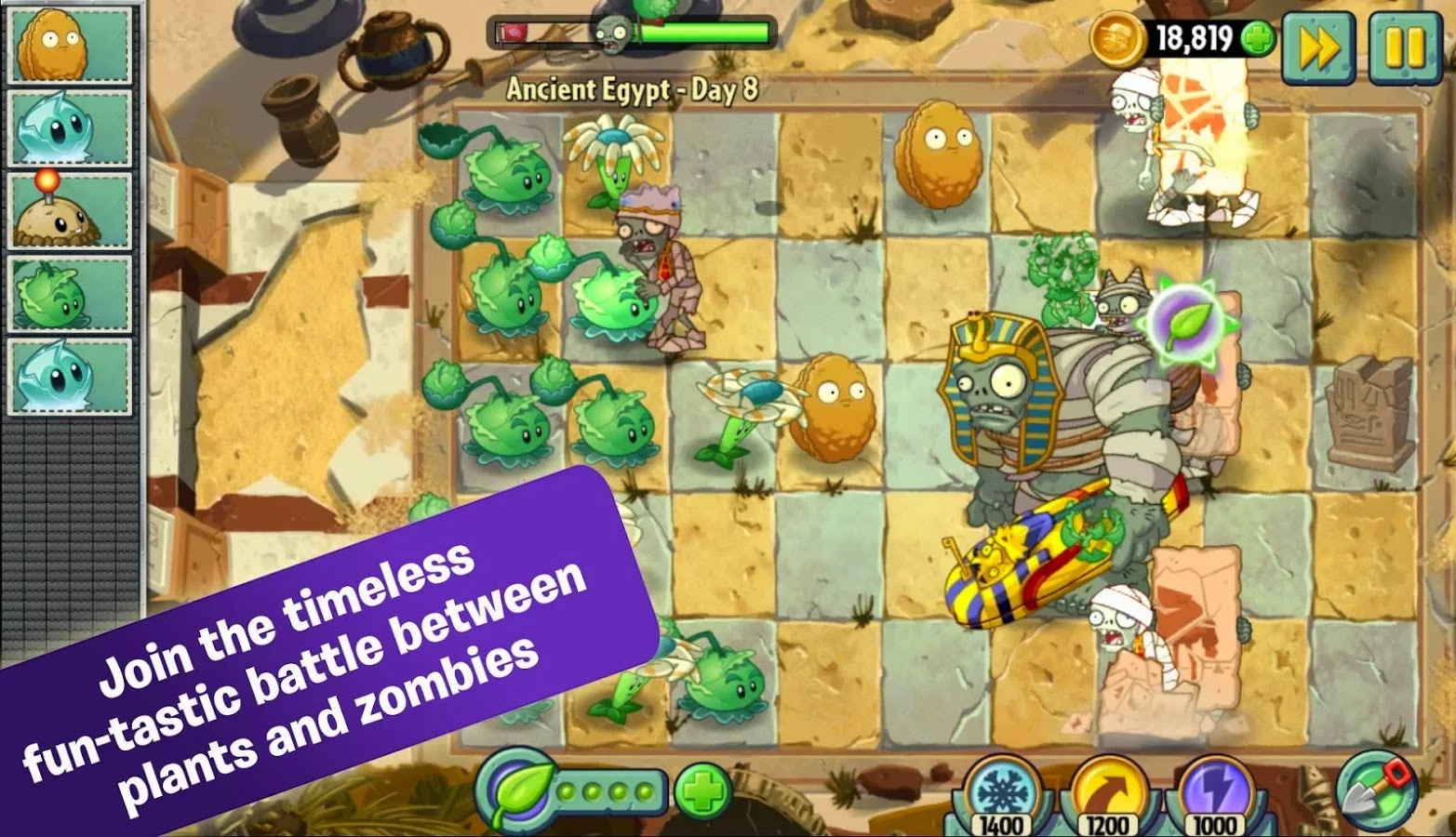Plants vs. Zombies™ 2 v2.7.1 Mod [Unlimited Coins/Gems/Keys]