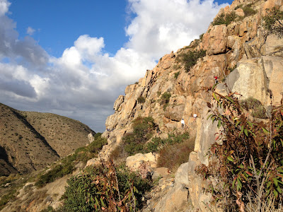Rocky path along Mission Trails