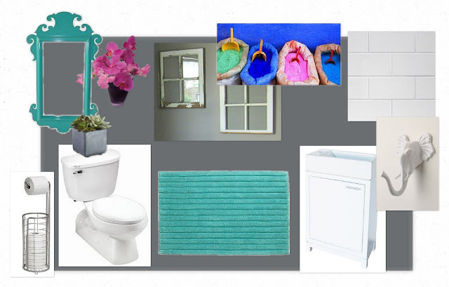 basement bathroom mood board // www.aswellplacetodwell.com