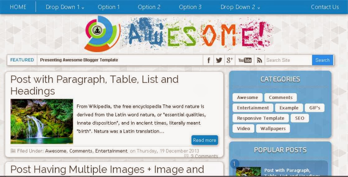 AWESOME! Blogger Template