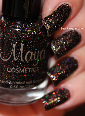 Maya Cosmetics Voodoo nail polish (photo blurred to show the sparkle)