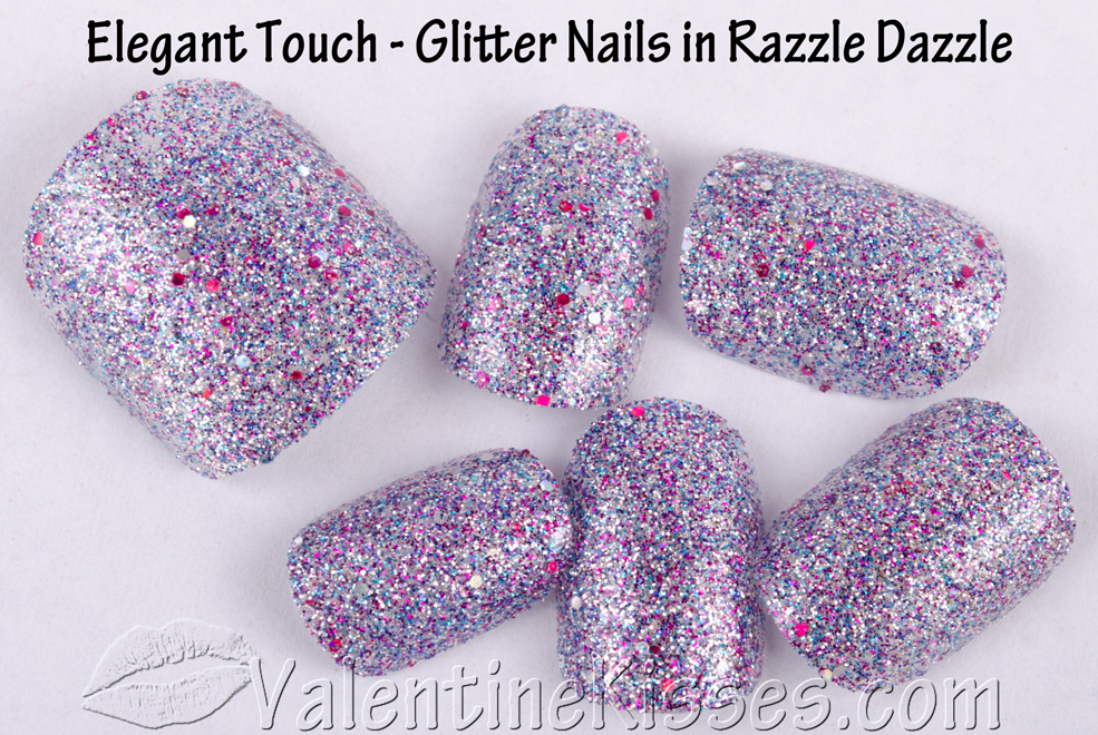 Elegant Touch Glitter Nails